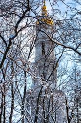 Assumption or Dormition (Uspenskiy) Cathedral in Kharkiv, Ukraine.