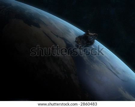 asteroid - stock photo