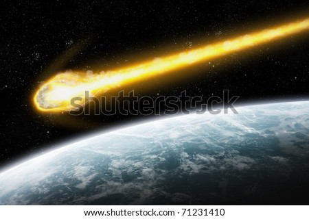 Asteroid and Earth : Meteor impact