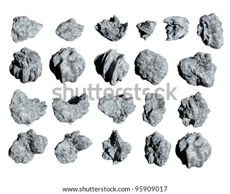 Asteroids to use in spacescapes. Easy to use, no background