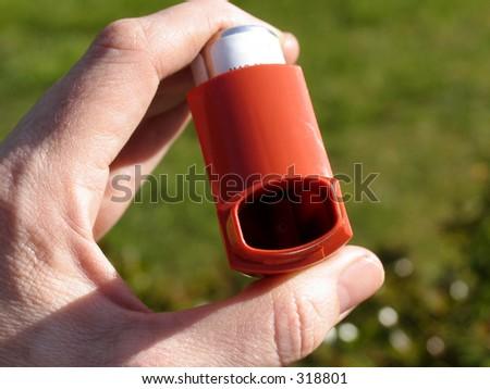 asthma inhaler horizontal