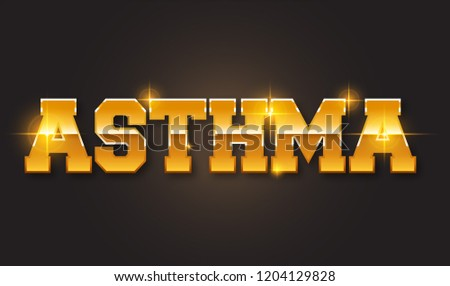 Asthma text. Popular disease and medical problem