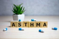 Asthma word made with building blocks, Asthma word as medical concept