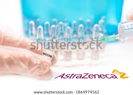 AstraZeneca vaccine concept: Oxford University and AstraZeneca partnership for producing Covid-19 vaccine is met with mixed results after late-stage testing in India is causes problems for participant