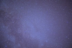 Astrological night sky with stars and constellations. The Milky Way and the accumulation of space debris in the galaxy.