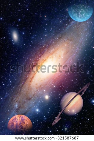 Astrology astronomy saturn outer space big bang solar system planet galaxy creation. Elements of this image furnished by NASA.