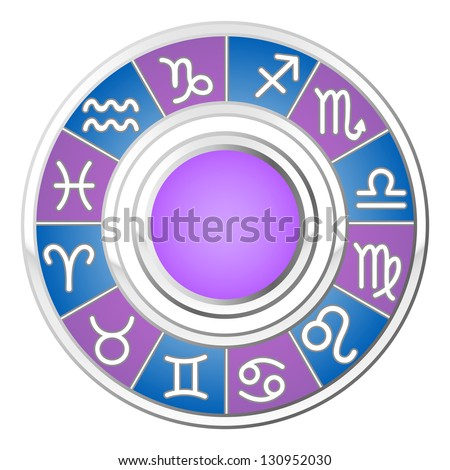 Astrology circle. All signs of the zodiac. Raster version, vector file also included in the portfolio.