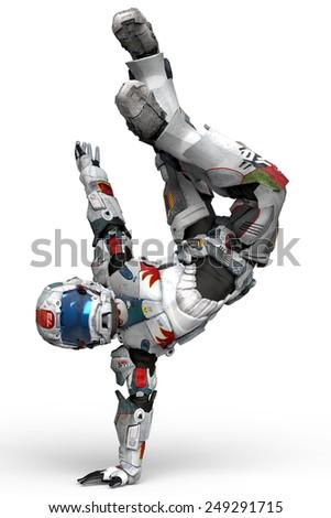 Stock Photo astronaut break dance