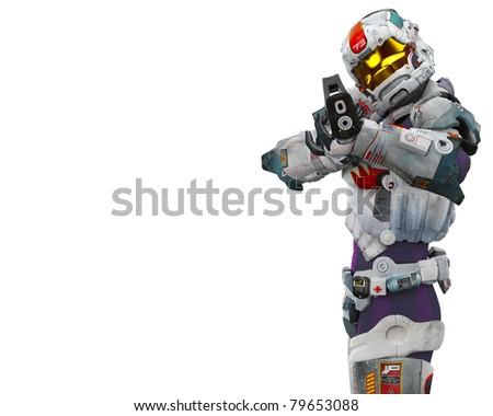 astronaut hero got a gun