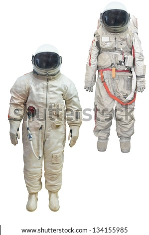 astronaut in a spacesuit under the white background