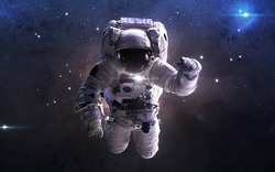 Astronaut in outer space. This image elements furnished by NASA