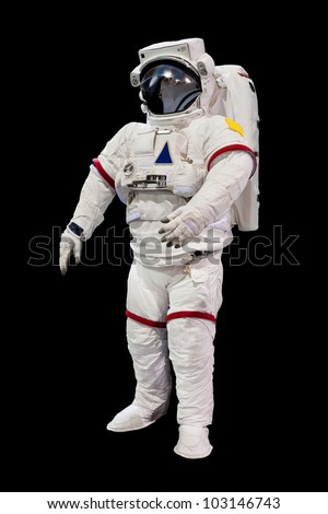Astronaut Isolated on Black Background