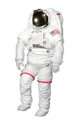 Astronaut isolated on white background with Clipping Path included. Elements of this image furnished by NASA.