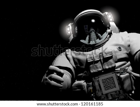 Astronaut on a black background.