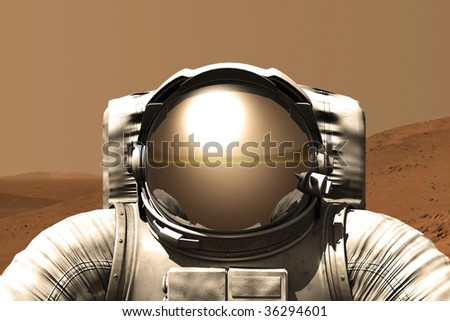 Astronaut on the Mars