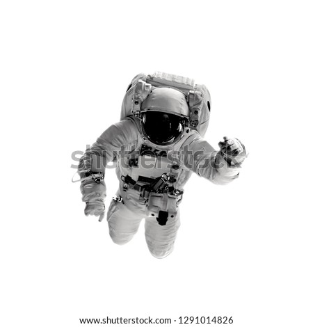 astronaut on the white backgrounds. Elements of this image furnished by NASA #1291014826