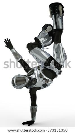 Stock Photo astronaut street dance