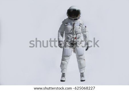 Astronaut white background