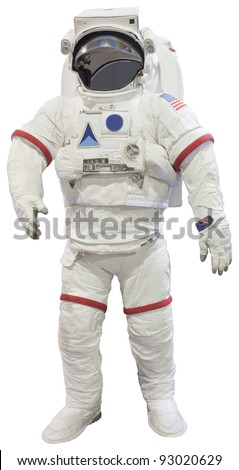 astronauts isolated white