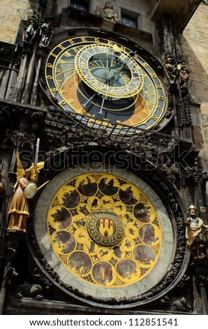 astronomic clock in prague, Czech Republic