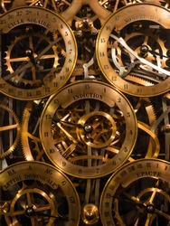 astronomical clock  in Strasbourg Cathedral France