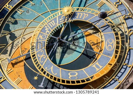 Astronomical clock, Town Hall, Old Town Square, Prague, Czech Republic