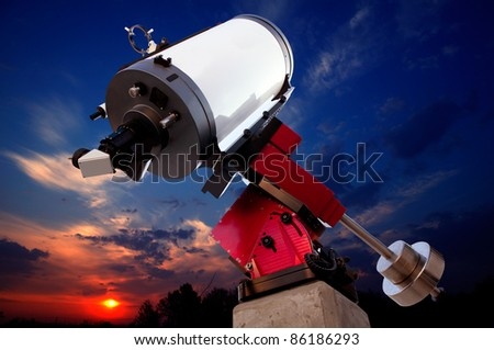 astronomical observatory telescope sunset dramatic sky [Photo Illustration]