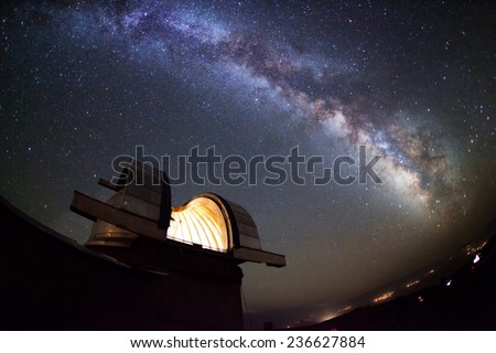 Astronomical Observatory under the stars
