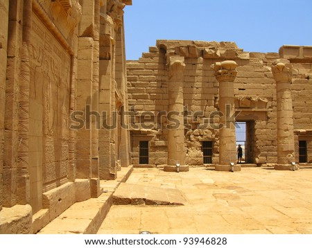 Aswan, Egypt: Temple of Kalabsha in Lake Nasser. Built by Emperor Augustus, it was the largest free-standing temple of Egyptian Nubia.