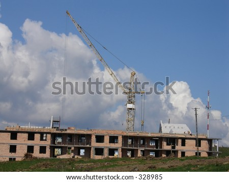 at a building site. architectural