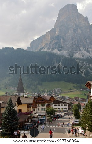 AT CORVARA - ON 05/08/2017 - The village of Corvara in Alto Adige, Italy #697768054