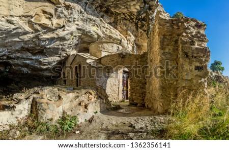 At Davelis cave on mountain Penteli in Attica, Greece.