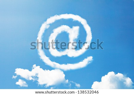 at internet sign in cloud shape