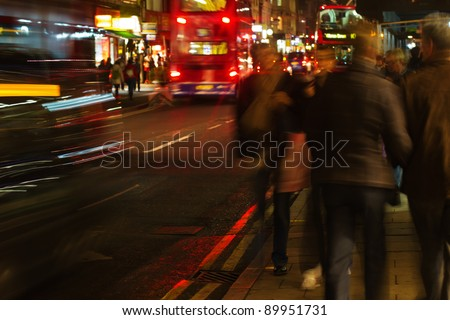 at night in the streets of london