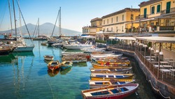 At the Borgo Marinariin Naples on the Gulf of Naples Campania Italy