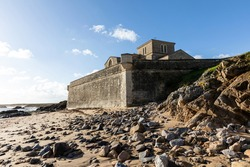 At the bottom of the Saint-Nicolas Priory ramparts in la Chaume (Les Sables d'Olonne, France)