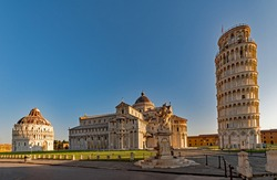 At the famous Piazza Miracoli in Pisa, Tuscany, Italy