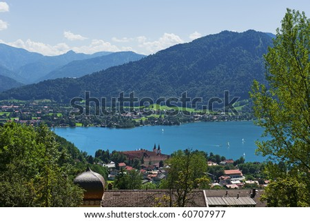 "At the lake ""Tegernsee"" in Bavaria"