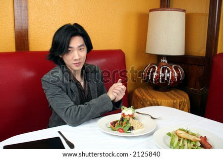 At the restaurant - stock photo