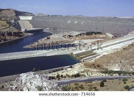 Ataturk Dam in Kurdistan, East Turkey