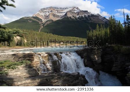Athabasca Fall in Alberta Canada