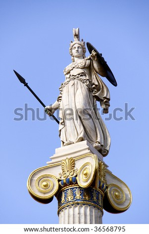 Athena in front of the Academy of Athens