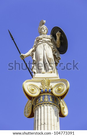 Athena statue in the academy of athens