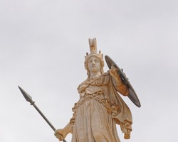 Athena the ancient greek goddess of knowledge and wisdom