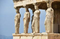 Athens acropolis - Erechtheion with Porch of the Caryatids, Greece
