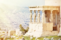 Athens acropolis - Erechtheion with Porch of the Caryatids, Greece