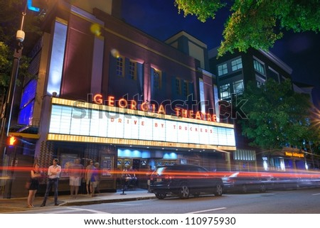 ATHENS, GEORGIA - AUGUST 23: Georgia Theatre August 23, 2012 in Athens, GA. The historic venue has featured many prominent acts from the prolific Athens music scene.
