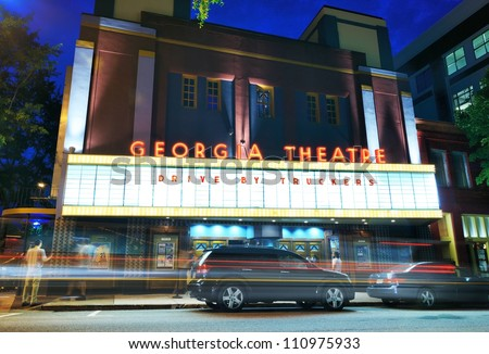 ATHENS, GEORGIA - AUGUST 23: Georgia Theatre August 23, 2012 in Athens, GA. The venue has hosted several prominent acts from the city's musical legacy.