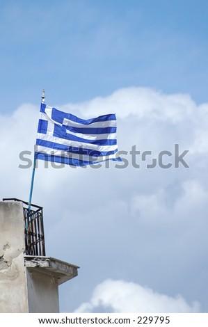 Athens - Greek flag