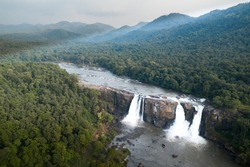 Athirappilly Falls in Chalakudy Taluk of Thrissur District in Kerala, India